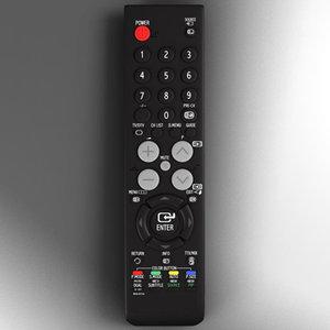 3d model remote tft
