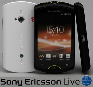 3d model sony ericsson live black