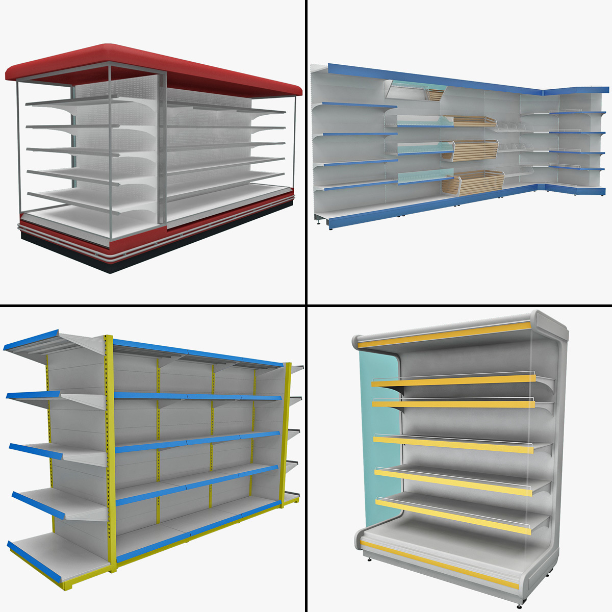 3ds max supermarket shelves