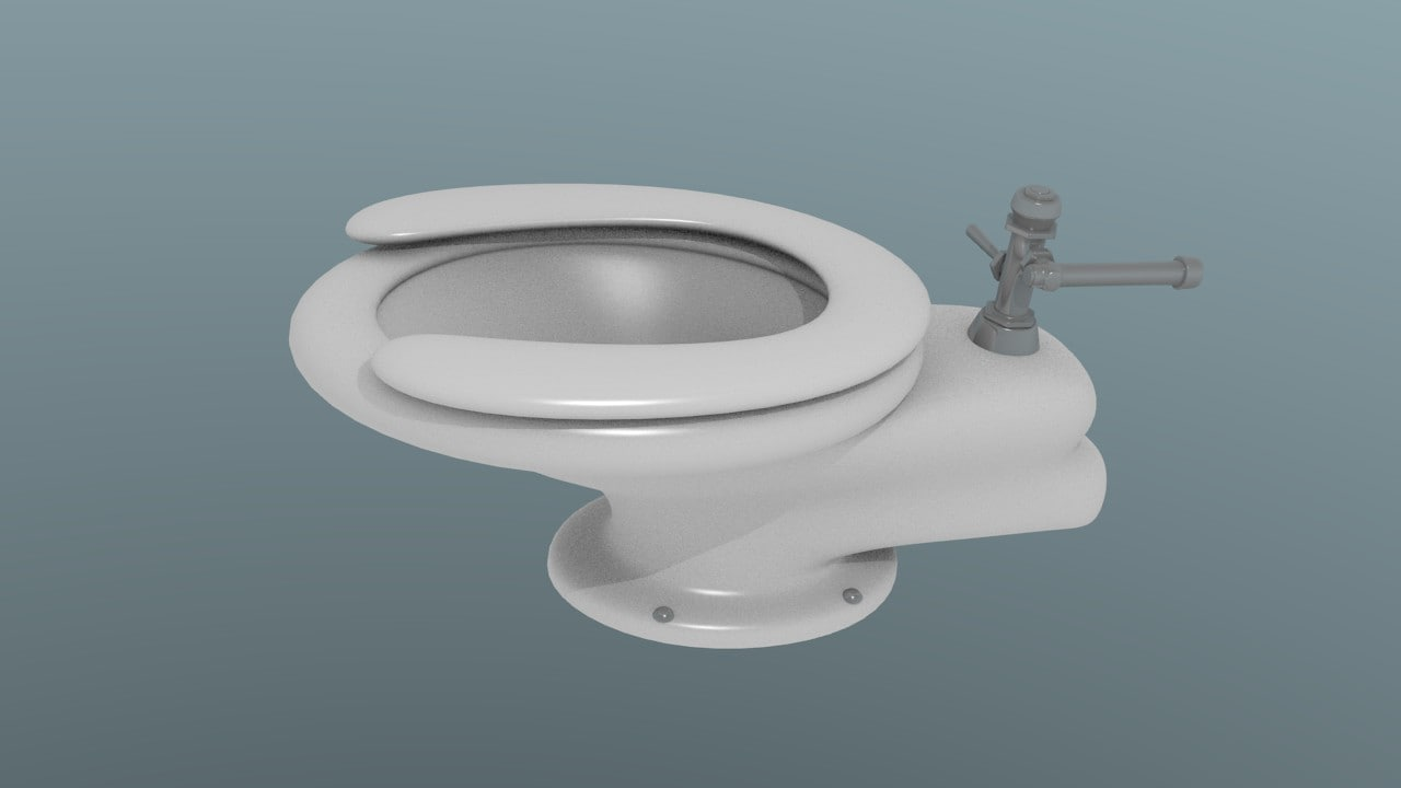 3ds max toilet stall
