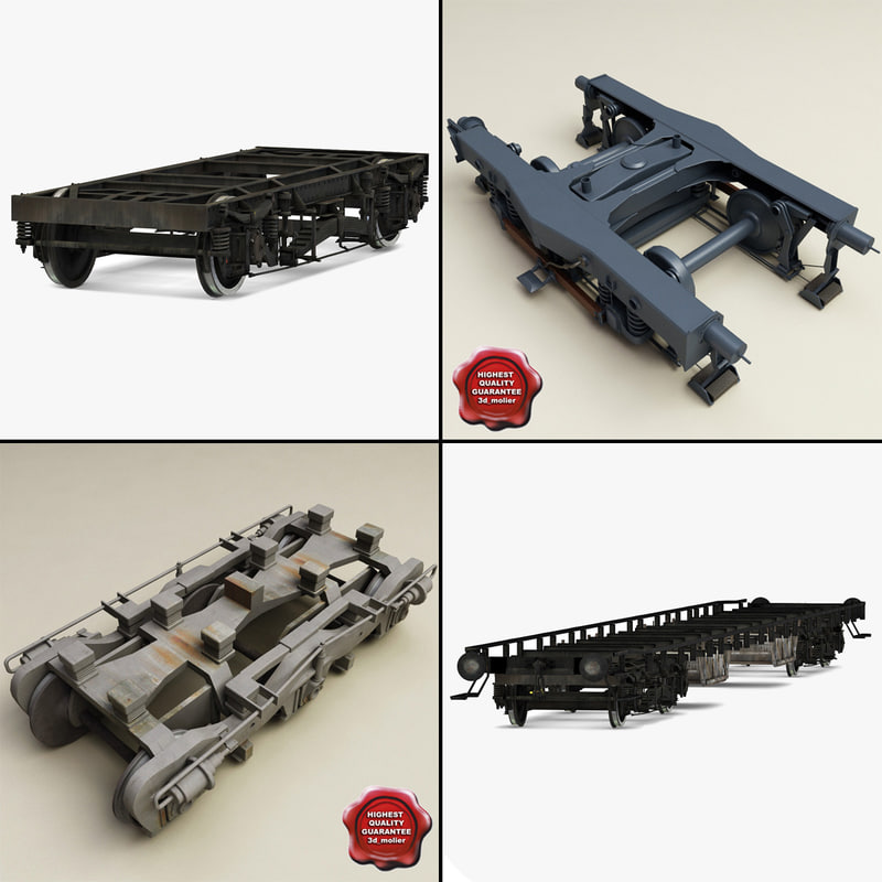 3d model train chassis