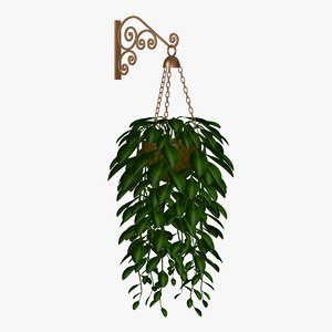 3d vine copper model