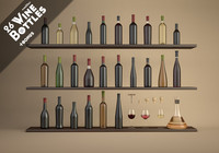 26 wine bottles 3ds