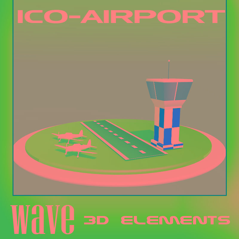 3d airport icon model