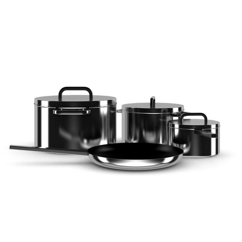 3d model cook set