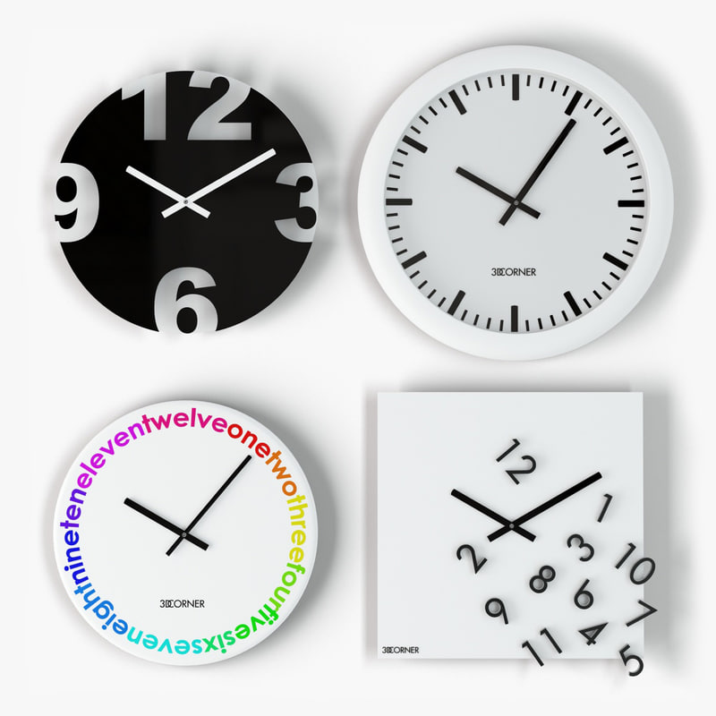 3d model design wall clock