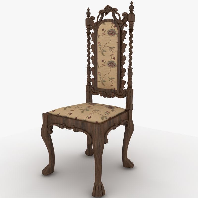chair antique 3d max