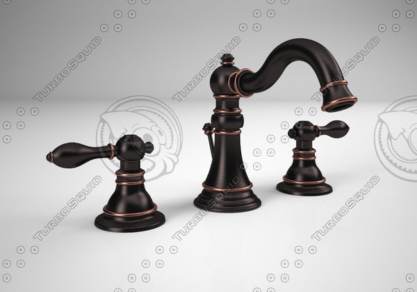 3d oil rubbed bronze faucet