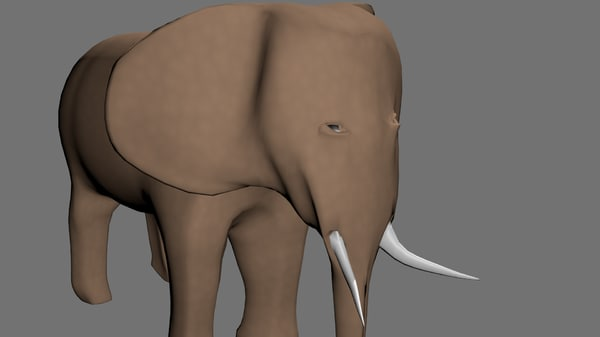 3ds max elephant