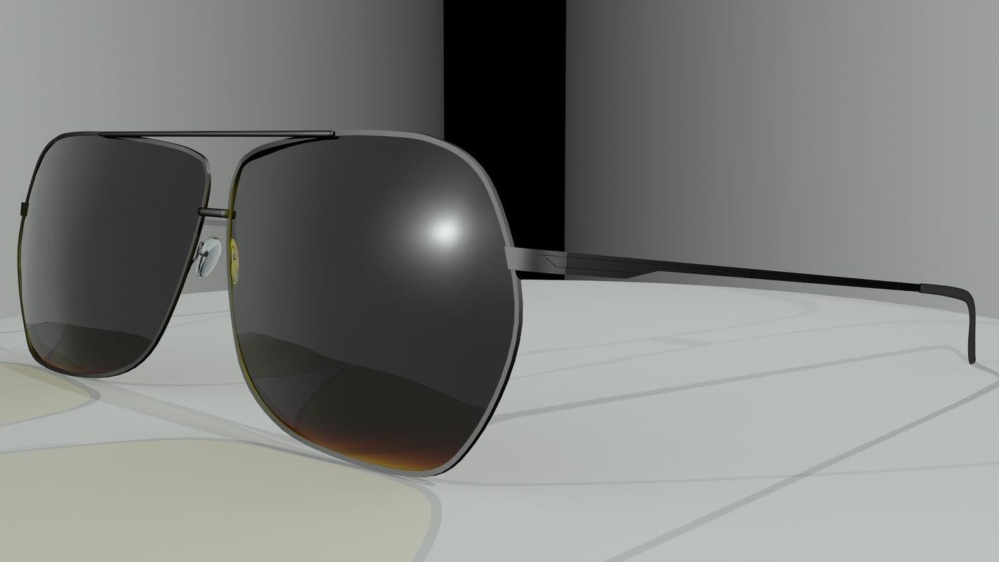 sun glass 3d model