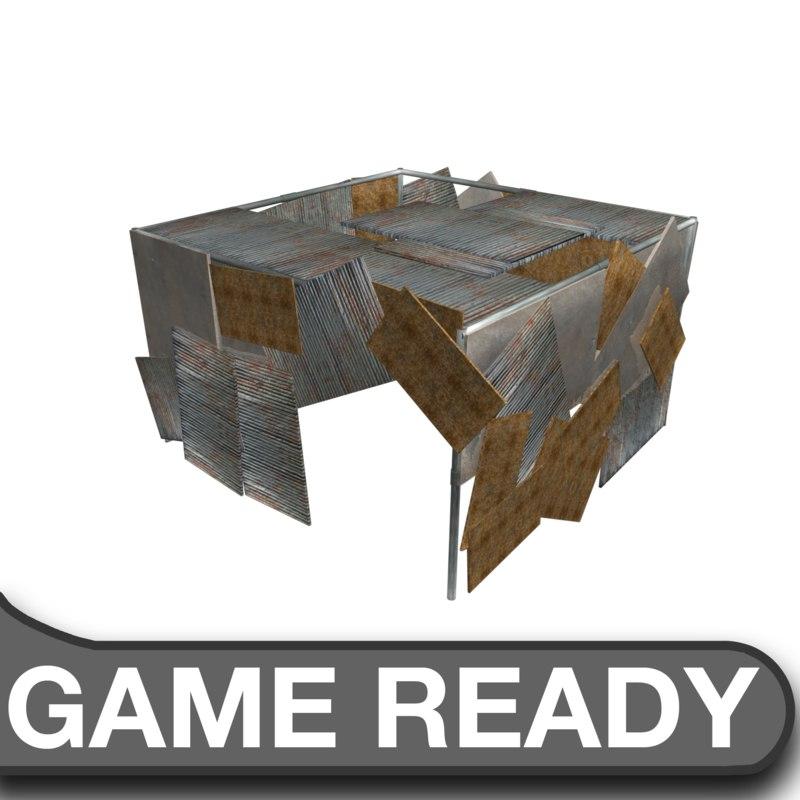 slum shack 3d obj