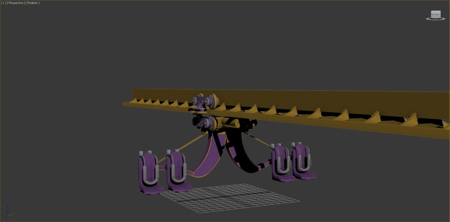 inverted wingrider roller coaster 3ds