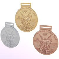 london 2012 olympic medals 3d dxf