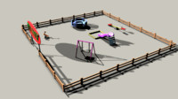 playground slide carusel 3d ma