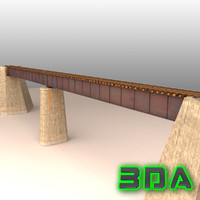 rail bridge 3d model