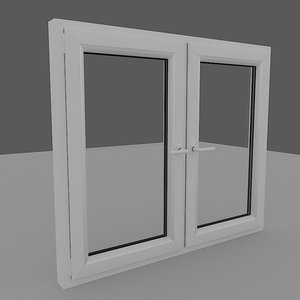 window pvc 3d max