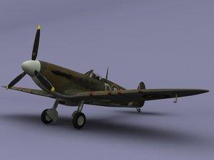 ready spitfire mk2 3d 3ds