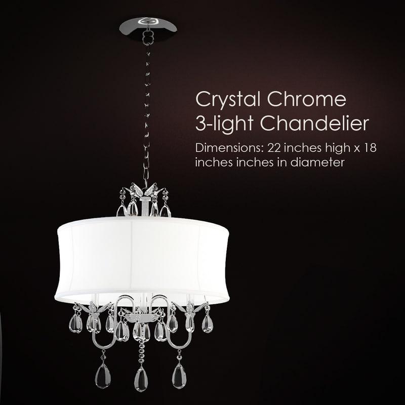 crystal chrome 3-light 3d model