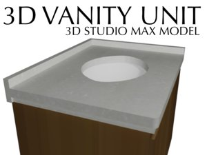 3dsmax vanity basin bathroom