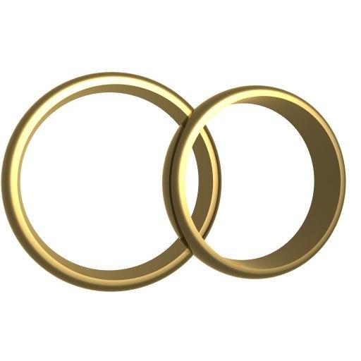 wedding rings 3d 3ds