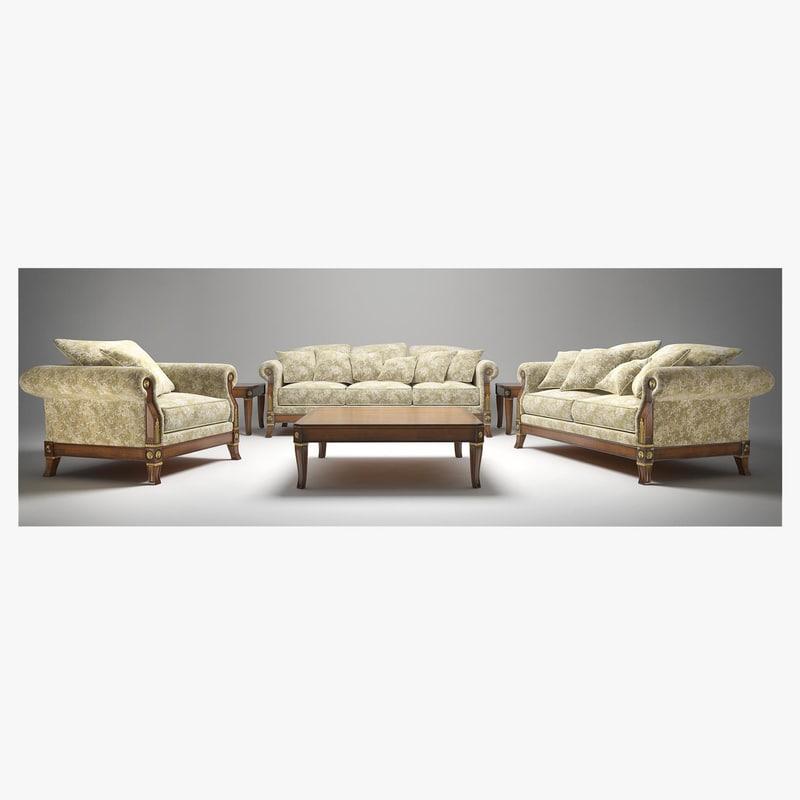 3d angelo cappellini living room