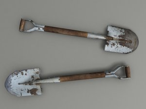 spade gardening 3d model