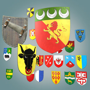 fbx shield medieval
