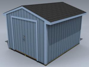 3d shed storage woodshed model