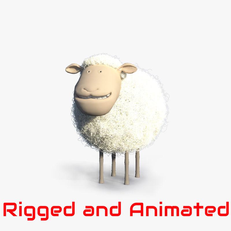 cartoon sheep animation character ma