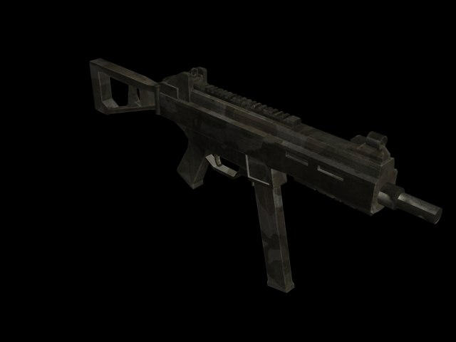 3ds max ump45 submachine gun