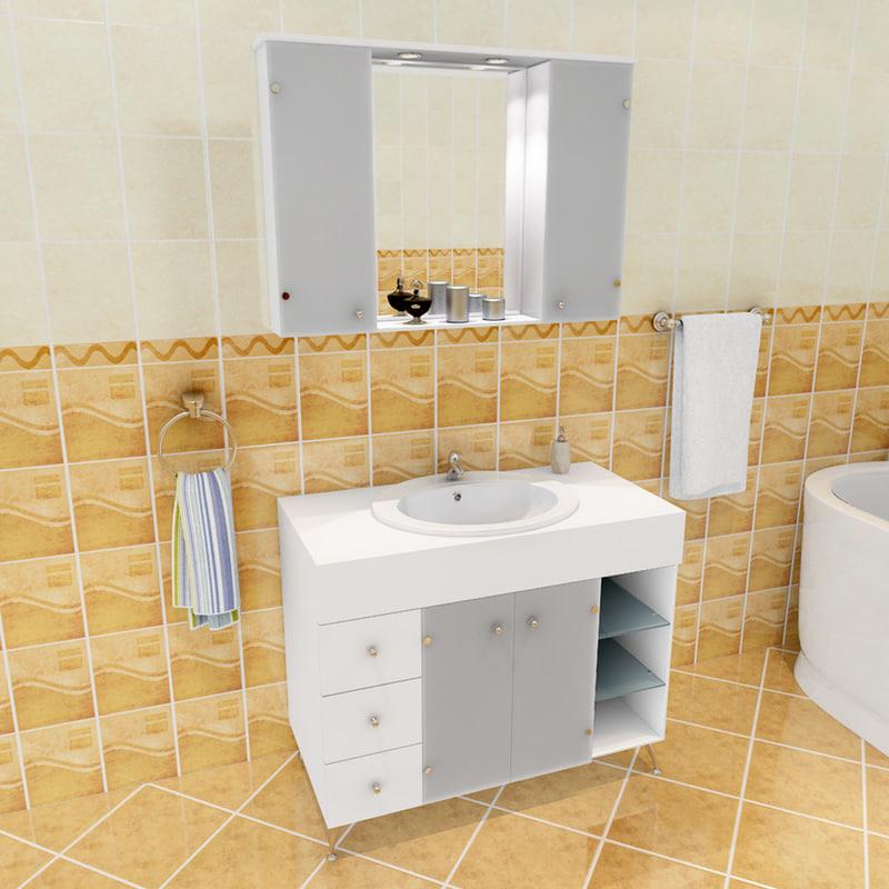 dn bathroom set 3d model