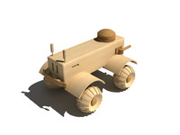 Wooden military car
