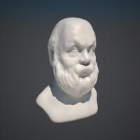 socrat sculpture 3d model
