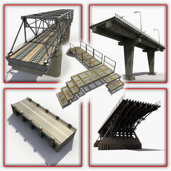 3d bridges modeled model