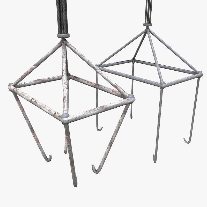 3d model coupling hook drag