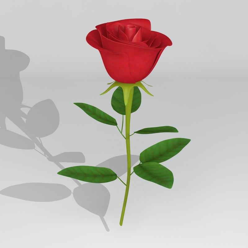 3d flower 2010 model