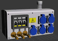 3d electric panel model