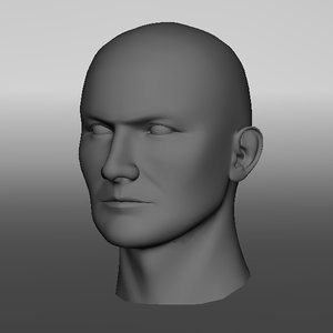 max realistic male head