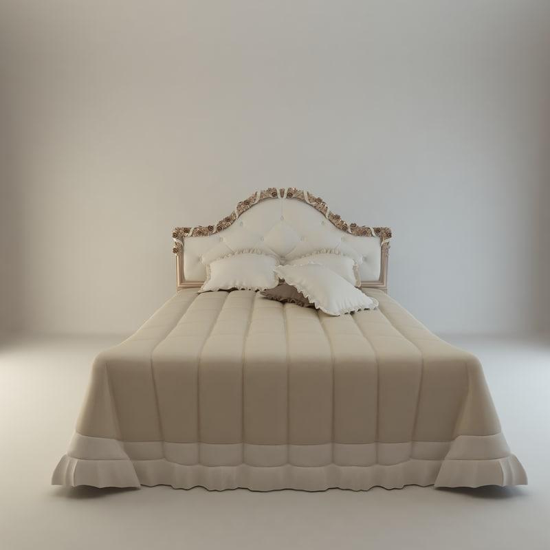 bed flower 3d model