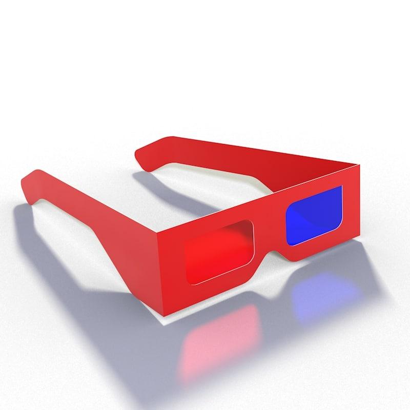 3d 3ds realistic glasses
