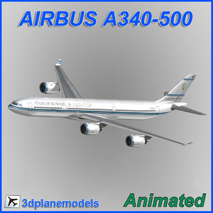 airbus a340-500 3ds