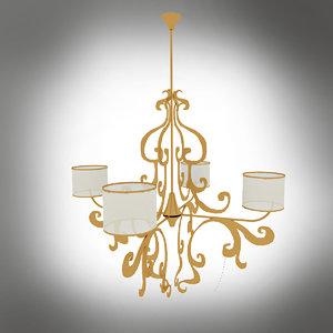 3d chandelier cortezari