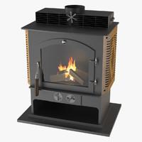 Photoreal Fireplace E
