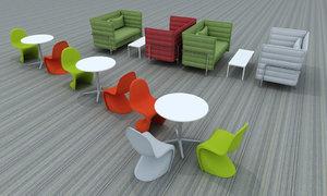 3d model lounge table panton