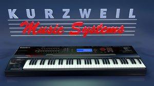 kurzweil k2500 keyboard 3d model