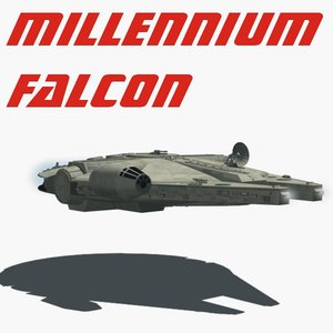 3d millennium falcon model