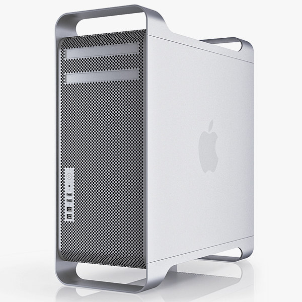 3d apple mac pro 12 model