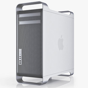 3d apple mac pro 12 model