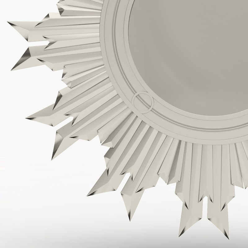 max mango wood sunburst mirror