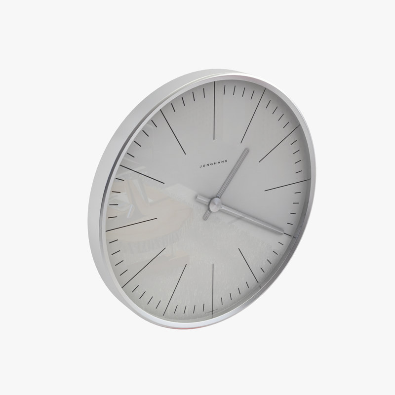 bill wall clock 3d max